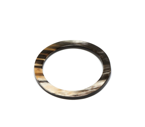 Natural Black Buffalo Horn Bangle - Godiva Boutique