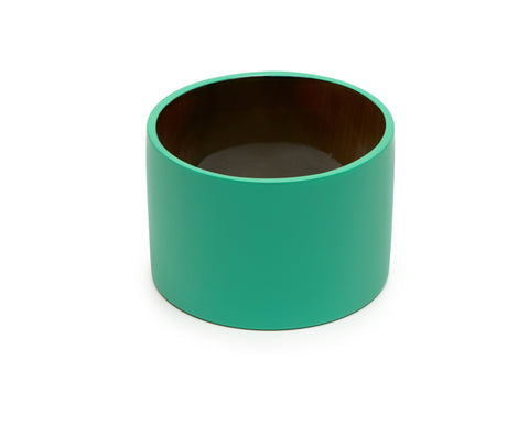 Mint Green Lacquered Buffalo Horn Wide Bangle - Godiva Boutique