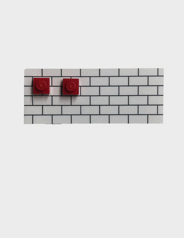 Lego Block Earrings - Red - Godiva Boutique
