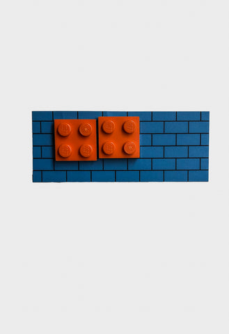 Lego Four Block Earrings - Orange - Godiva Boutique