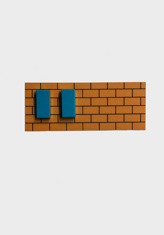 Lego Rectangle Earrings - Turquoise - Godiva Boutique