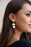 Circle Dangle Earrings - Gold - Godiva Boutique