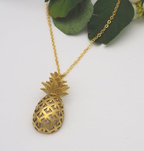 Pineapple Necklace - Godiva Boutique