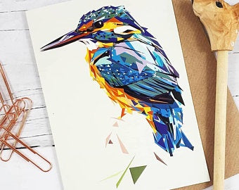 Illustrated Greeting Card - Kingfisher