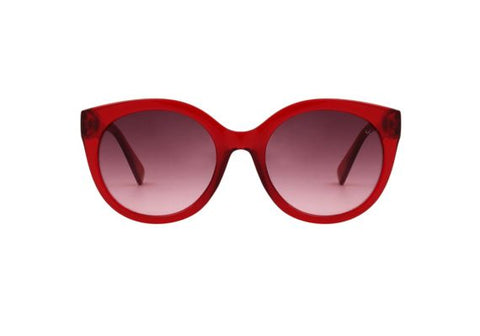 Butterfly Sunglasses - Transparent Red - Godiva Boutique