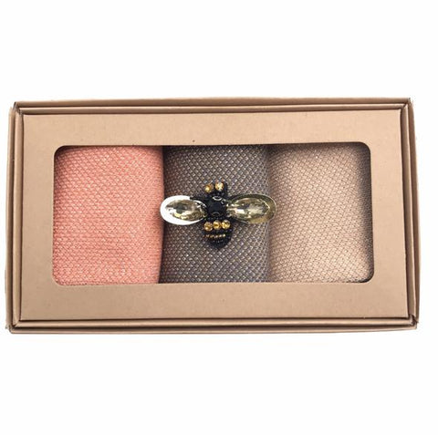 Dakota Sock Box with Pin Brooch