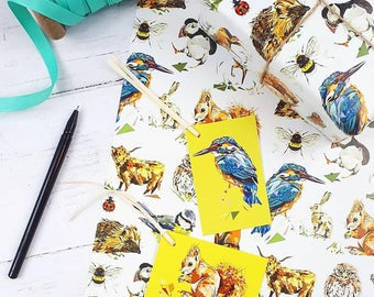 Gift Wrap Set - British Wildlife