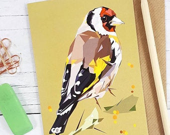 Illustrated Greeting Card - Goldfinch