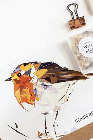 Bird seed greeting card - Godiva Boutique