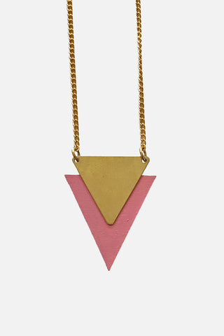 Single Triangle Necklace - Godiva Boutique