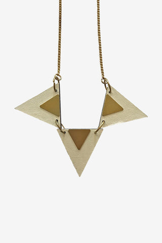 Triple triangle necklace - Godiva Boutique