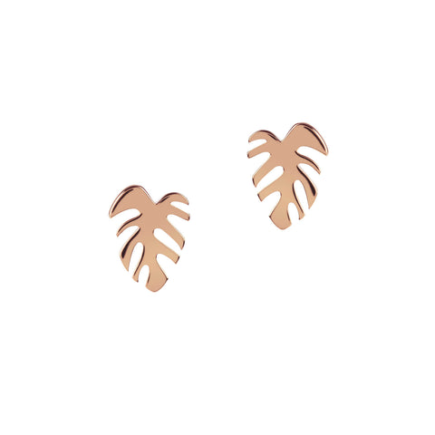 Monstera Studs - Godiva Boutique