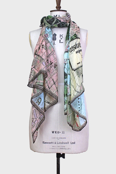 Budapest street map scarf (One Hundred Stars)