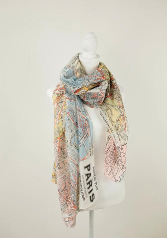 Valerie Paris map scarf