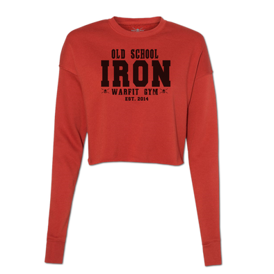 Iron Cropped Crew Fleece