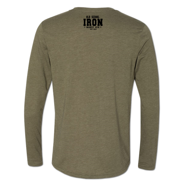 Logo Long Sleeve Crew - Army Green