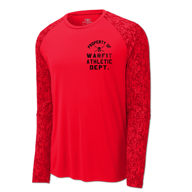 Pro Dry Long Sleeve Digi Camo - Red