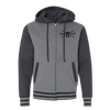 Warfit Varsity Full-Zip Hooded Sweatshirt - Charcoal