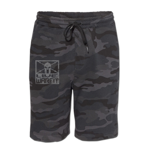 Live Warfit Fleece Shorts - Black Camo