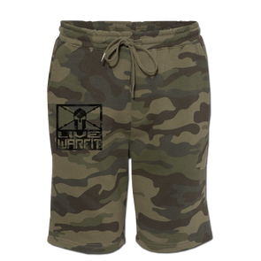 Live Warfit Fleece Shorts - Green Camo