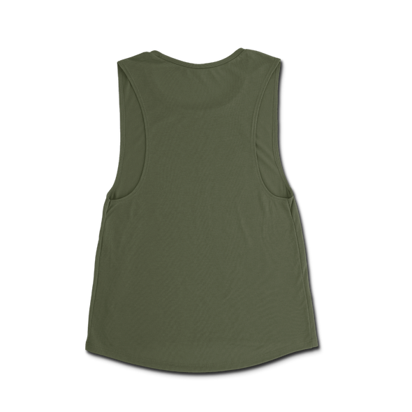 Ladie's Property Of Muscle Tee - Olive