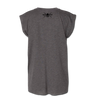 Ladie's Rolled Cuff Tee - Grey