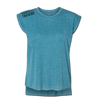 Ladie's Rolled Cuff Tee - Teal