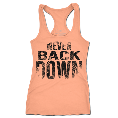 Never Back Down Racerback