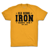 Old School Iron Tee - Yellow