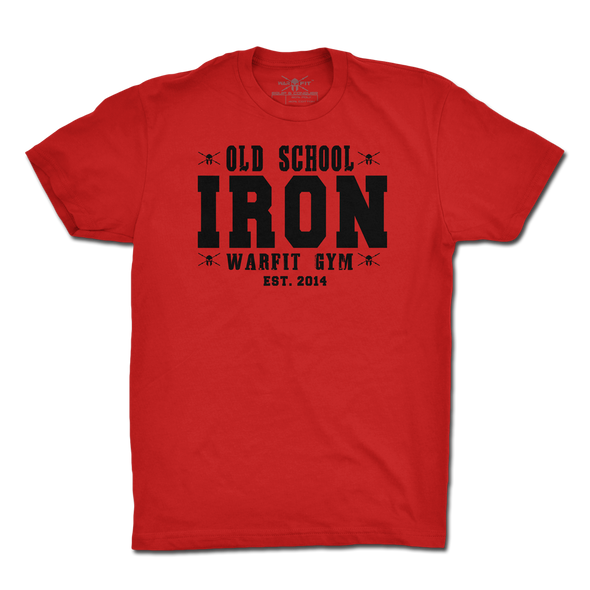 Old School Iron Tee - Red
