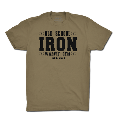 Old School Iron Tee - Olive