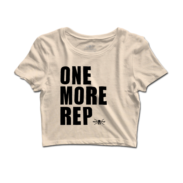 One More Rep Crop Tee