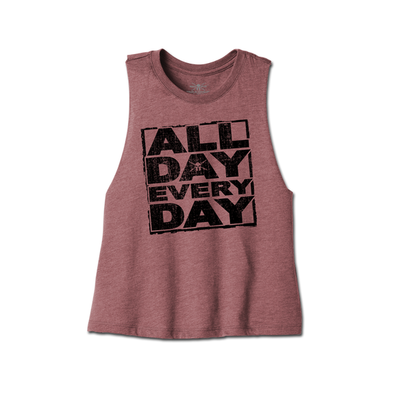 All Day Cropped Racerback