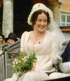 Elizabeth Bennet Wedding Dress. BBC dramatisation of Pride & Prejudice 1996 #love #regency
