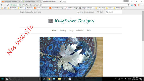 Setting up a new website for Kingfisher Designs