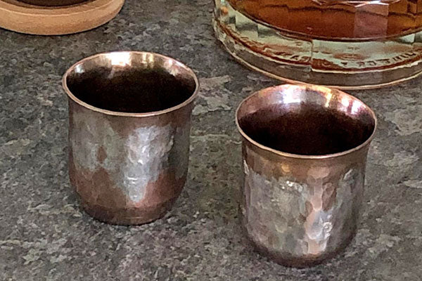Classic Shotglasses in Silver and Copper