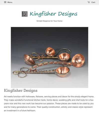 Kingfisher Designs Website