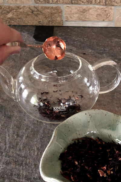 copper tea measuring spoon
