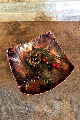 8 inch copper fold formed bowl