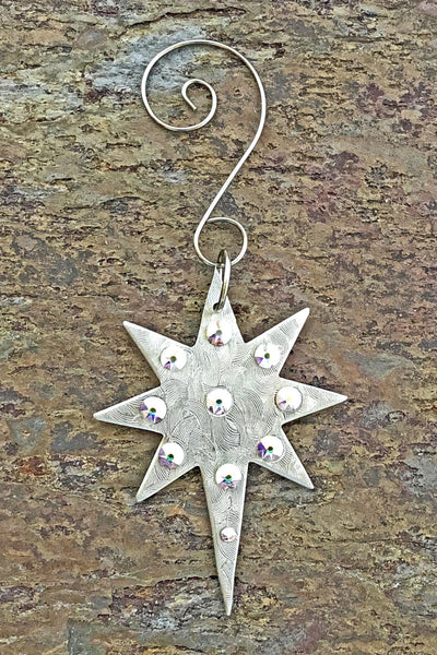North Star Silver and Crystal Ornament