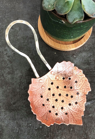 Copper bar strainer