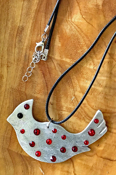 Silver Cardinal Necklace