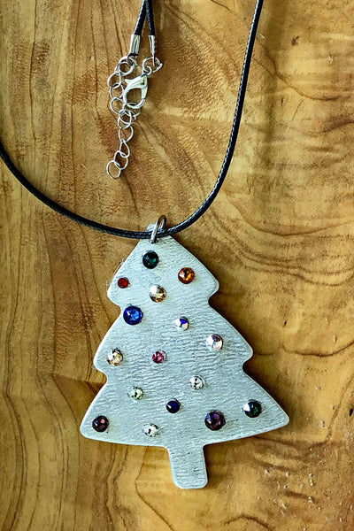 Christmas Tree Ornament Necklace
