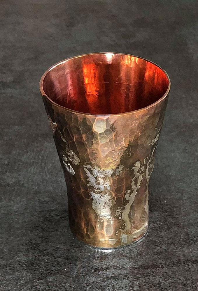 good measure copper and silver shot glass