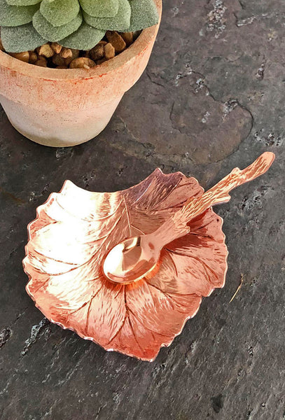 copper bowl and spoon set