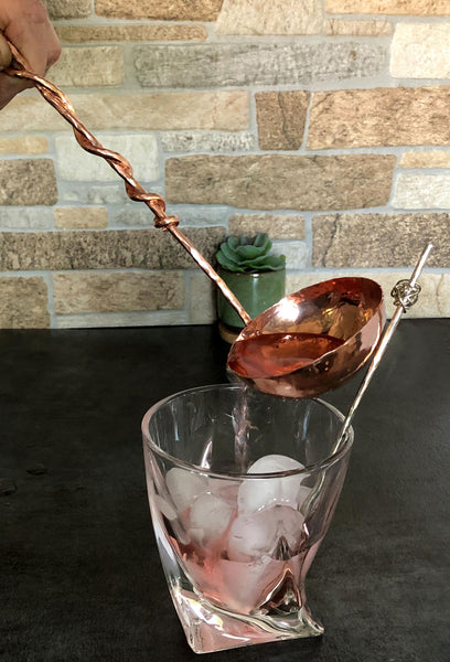 medium copper ladle with copper handle
