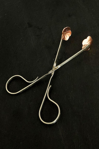 Copper tea tongs