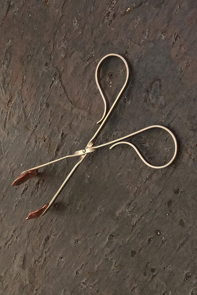 Copper Tongs for Lemon or Sugar