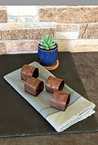 Copper Treasure Chest Napkin Rings