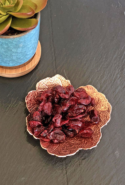 copper geranium leaf bowl